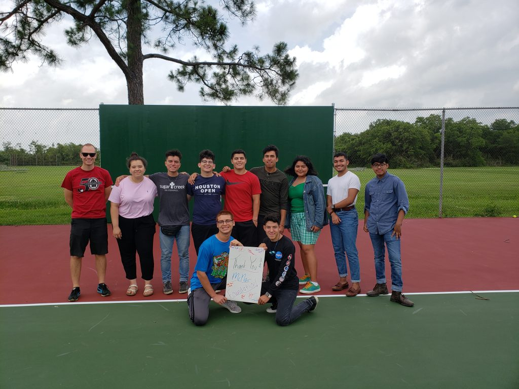 Chinquapin students are thrilled to have a newly resurfaced tennis court.