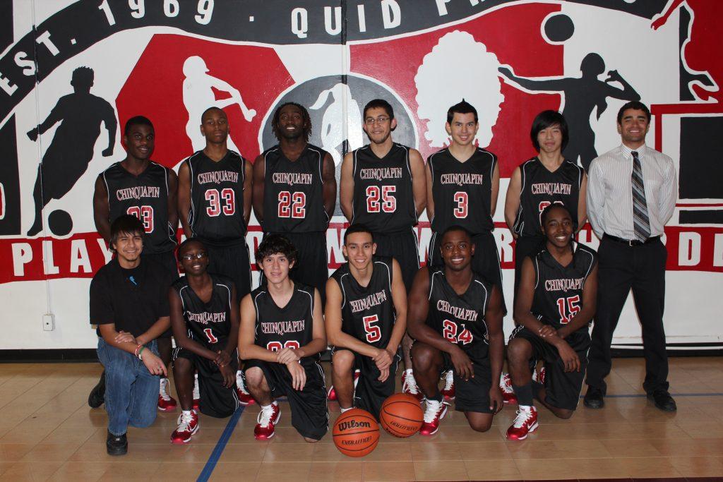 Chinquapin's boys' basketball team circa 2012